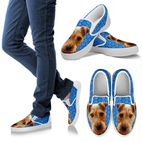 Lakeland Terrier Dog Print Slip Ons For Women-Express Shipping