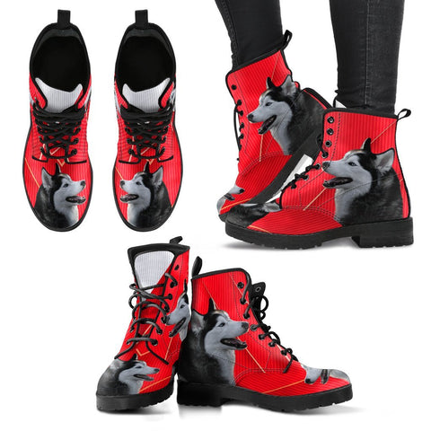 Valentine's Day Special-Siberian Husky Print Boots For Women-Free Shipping