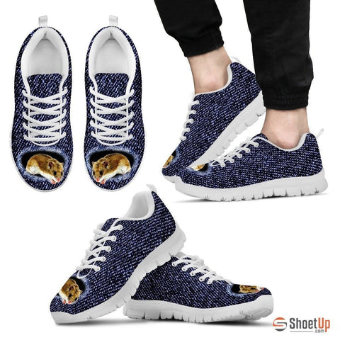 Chinese Hamster Printed (Black/White) Running Shoes For Men-Free Shipping Limited Edition