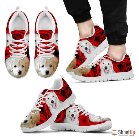 White labradoodle Running Shoe For Men- Free Shipping