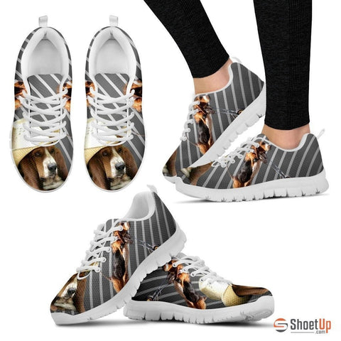 Stylish Basset Hound-Dog Running Shoes For Women-Free Shipping