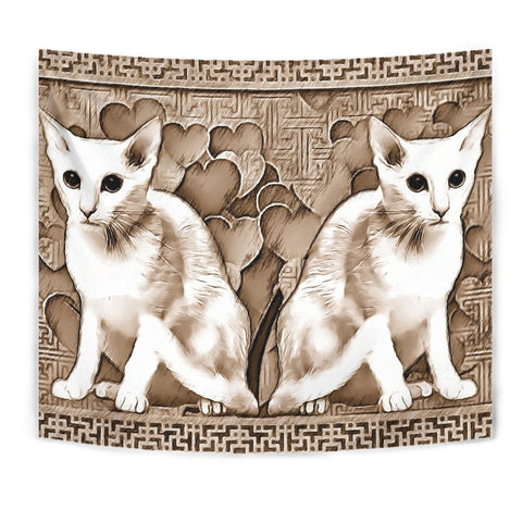 Oriental Shorthair Cat Print Tapestry-Free Shipping