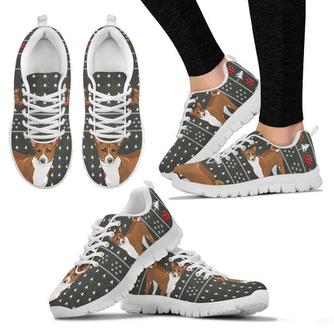 Basenji Dog Print Christmas Running Shoes For Women-Free Shipping