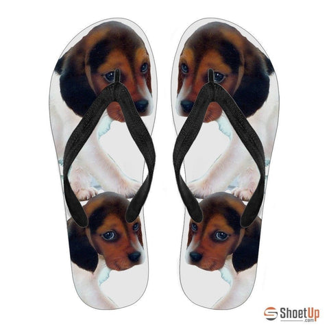 Beagle Puppy Flip Flops For Women-Free Shipping