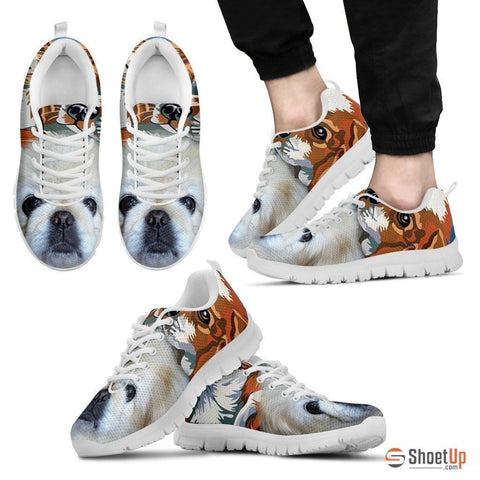 Pekingese Dog Print Running Shoe For Men- Free Shipping