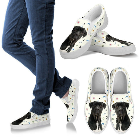 Cane Corso Dog Print Slip Ons For Women-Express Shipping