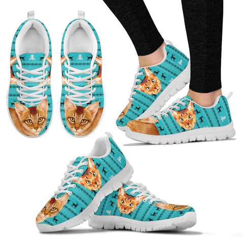 Abyssinian Cat Christmas Running Shoes For Women- Free Shipping