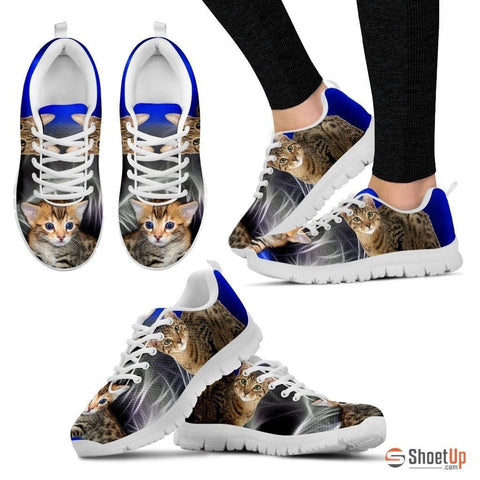 Serengeti Cat Print (White/Black) Running Shoes For Women-Free Shipping