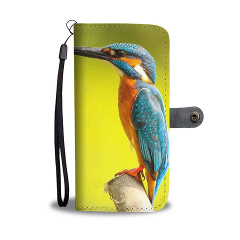 Beautiful Kingfisher Bird Print Wallet Case-Free Shipping