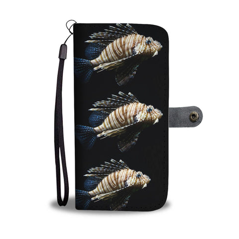 Lion Fish Print Wallet Case-Free Shipping