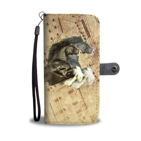 Lovely Shire Horse Print Wallet Case- Free Shipping