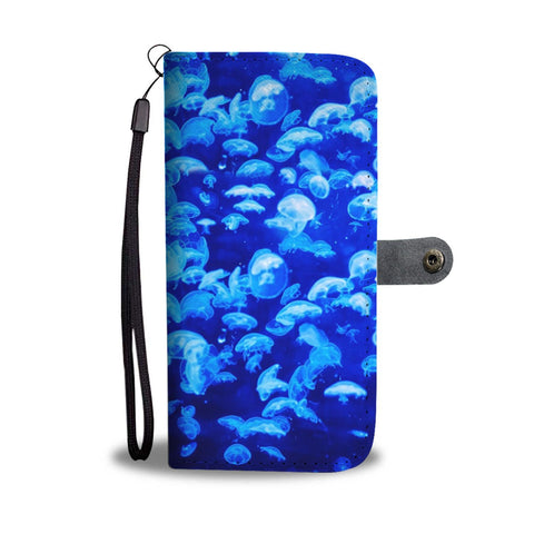 Amazing Jelly Fish Print Wallet Case-Free Shipping