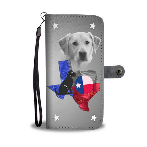Cute Labrador Retriever Print Wallet Case- Free Shipping-TX State