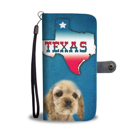 Cocker Spaniel Print Wallet Case-Free Shipping-TX State