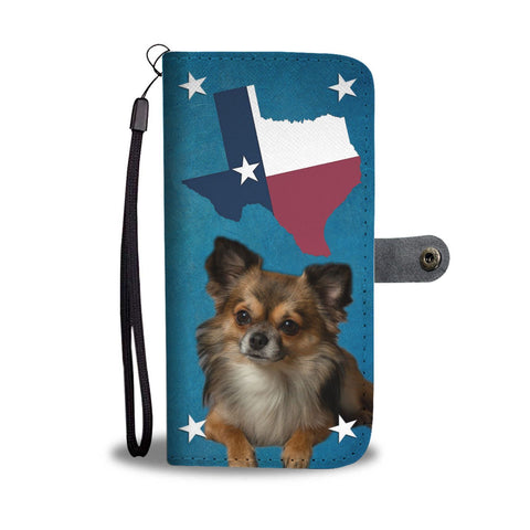 Lovely Chihuahua Print Wallet Case- Free Shipping-TX State