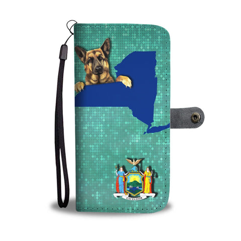 German Shepherd Dog Print Wallet Case-Free Shipping-NY State