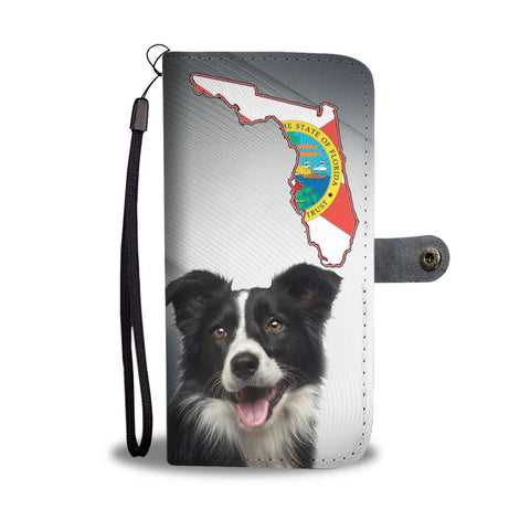 Border Collie Print Wallet Case-Free Shipping-FL State