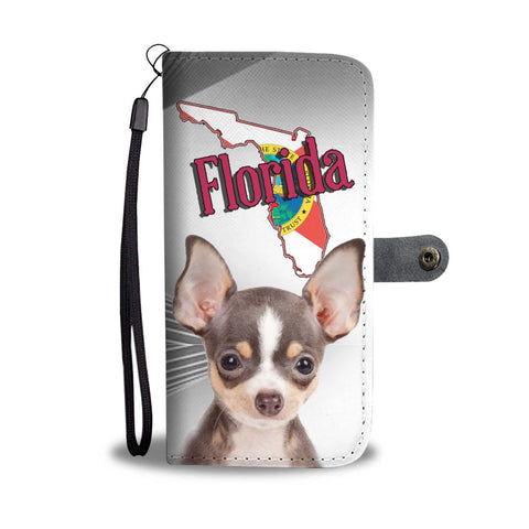 Chihuahua Dog Print Wallet Case-Free Shipping-FL State