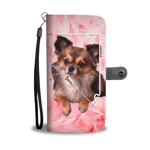 Lovely Chihuahua Print Wallet Case- Free Shipping-NV State