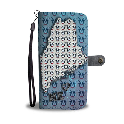French Bulldog Pattern Print Wallet Case-Free Shipping-ME State