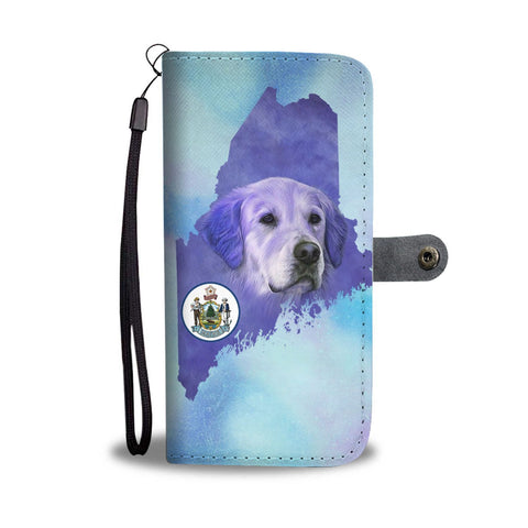 Golden Retriever Dog Art Print Wallet Case-Free Shipping-ME State