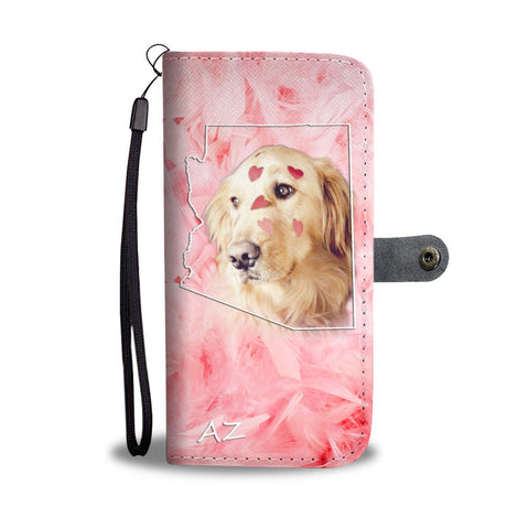 Golden Retriever Print Wallet Case- Free Shipping-AZ State