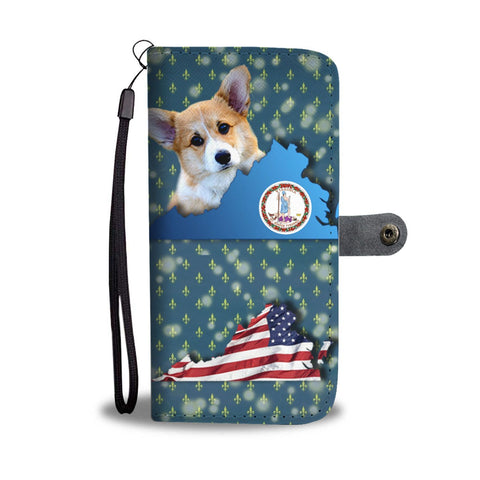 Pembroke Welsh Corgi Dog Print Wallet Case-Free Shipping-VA State