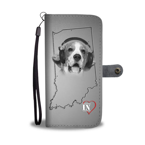 Beagle Print Wallet Case- Free Shipping-IN State