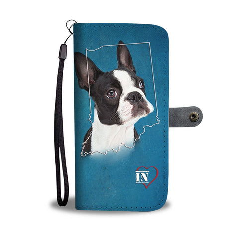 Boston Terrier Print Wallet Case- Free Shipping-IN State