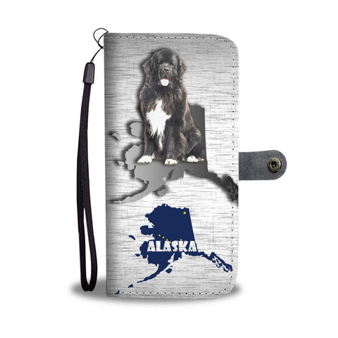 Newfoundland Dog Print Wallet Case-Free Shipping-AK State