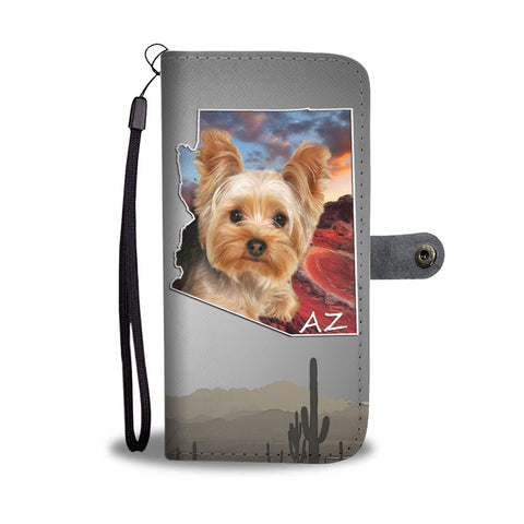 Lovely Yorkie Print Wallet Case-Free Shipping- AZ State