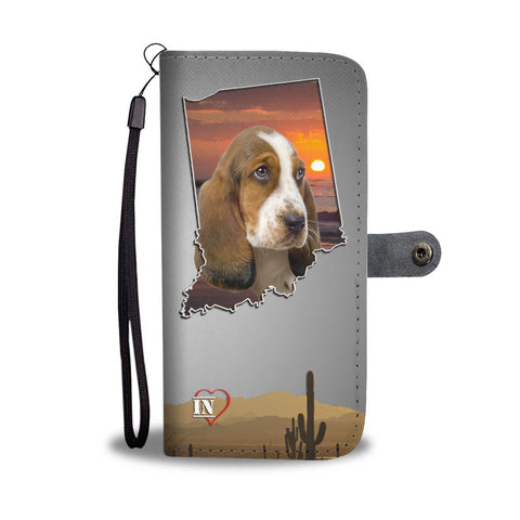Cute Basset Hound Print Wallet Case-Free Shipping-IN State