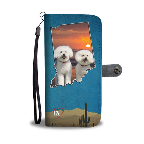 Lovely Bichon Frise Print Wallet Case-Free Shipping- IN State