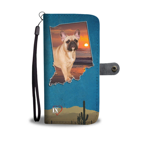 Cute French Bulldog Print Wallet Case-Free Shipping- IN State