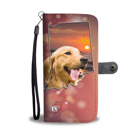 Lovely Golden Retriever Print Wallet Case- Free Shipping-IN State