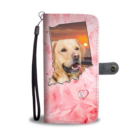 Cute Labrador Retriever Print Wallet Case- Free Shipping-IN State
