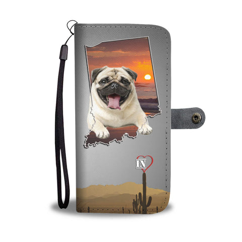 Cute Pug Print Wallet Case-Free Shipping-IN State