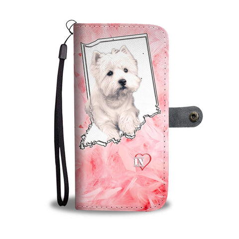 Cute West Highland White Terrier Print Wallet Case-Free Shipping-IN State