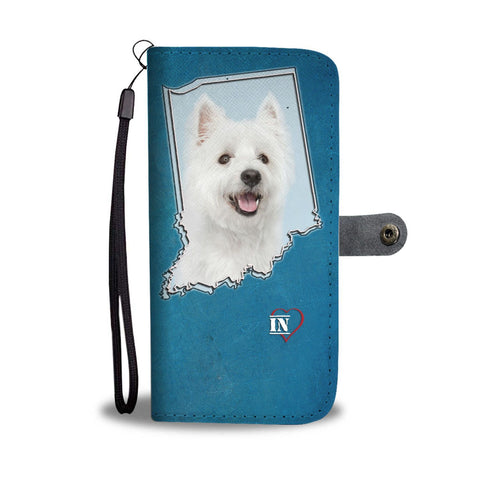 Cute Westie Print Wallet Case-Free Shipping-IN State