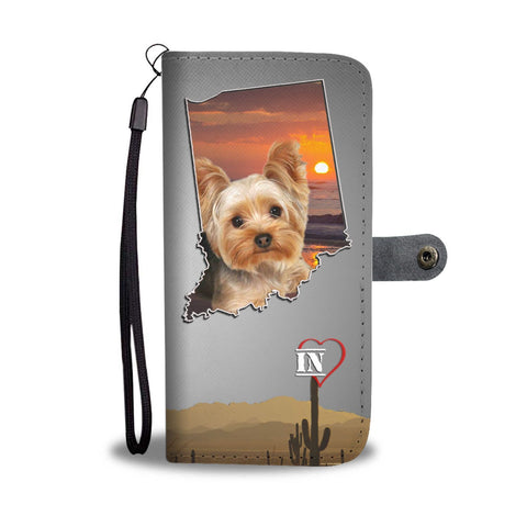 Lovely Yorkshire Terrier Print Wallet Case-Free Shipping- IN State