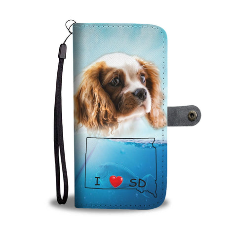 Cavalier King Charles Spaniel Print Wallet Case-Free Shipping-SD State