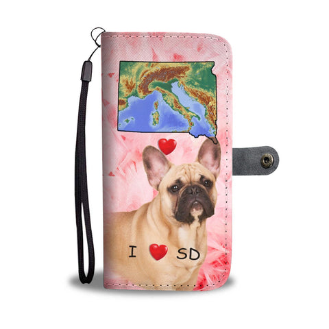 French Bulldog Print Wallet Case-Free Shipping-SD State