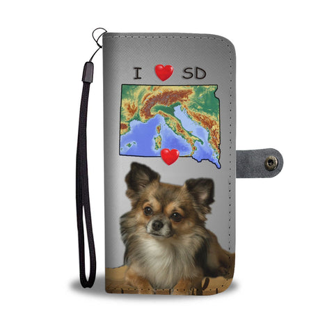 Cute Chihuahua Print Wallet Case-Free Shipping-SD State