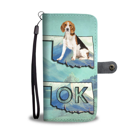 Cute Beagle Print Wallet Case-Free Shipping-OK State
