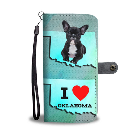 Cute French Bulldog Print Wallet Case-Free Shipping-OK State