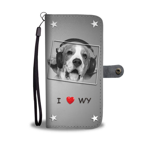 Beagle Dog Print Wallet Case-Free Shipping-WY State