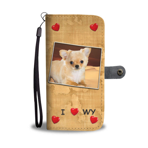 Cute Chihuahua Print Wallet Case-Free Shipping-WY State