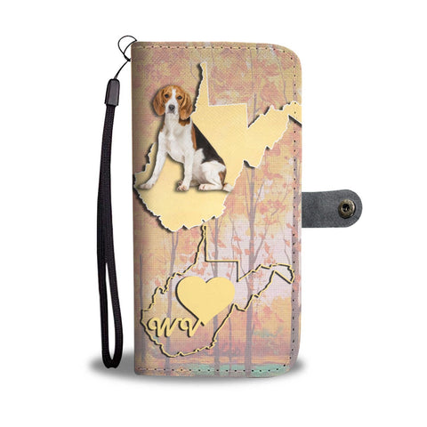 Amazing Beagle Dog Print Wallet Case-Free Shipping-WV State