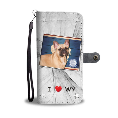 French Bulldog Print Wallet Case-Free Shipping-WY State