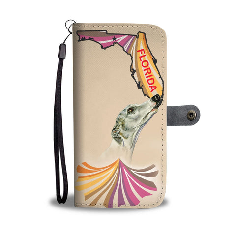Cute Whippet Dog Print Wallet Case-Free Shipping-FL State